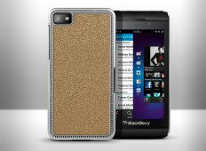 Coque Blackberry Z10 Glitter Series-Or