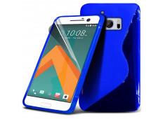 Coque HTC One M10 Silicone Grip-Bleu
