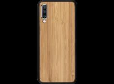 Coque Samsung Galaxy A70 en  Bois Bambou (en Couleur ou Noir)
