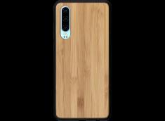 Coque Huawei P30 en Bois Bambou (en Couleur ou en Noir)