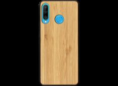 Coque Huawei P30 Lite en Bois Bambou (en Couleur ou Noir)