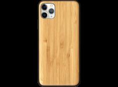 Coque iPhone 11 PRO MAX EN BAMBOU A PERSONNALISER (COULEUR OU NOIR)