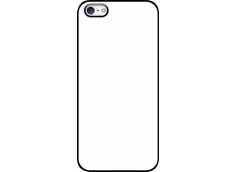 Coque iPhone 5/5S/SE Tout Silicone Bords Noir