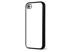 Coque iPhone 4/4S Bords Silicone Noir