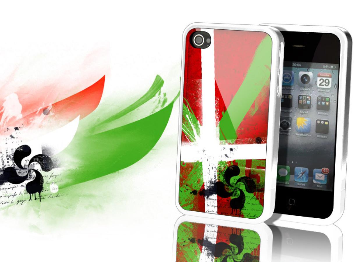 Coque iPhone 4/4S Drapeau Grunge - Italie-2 | Master Case