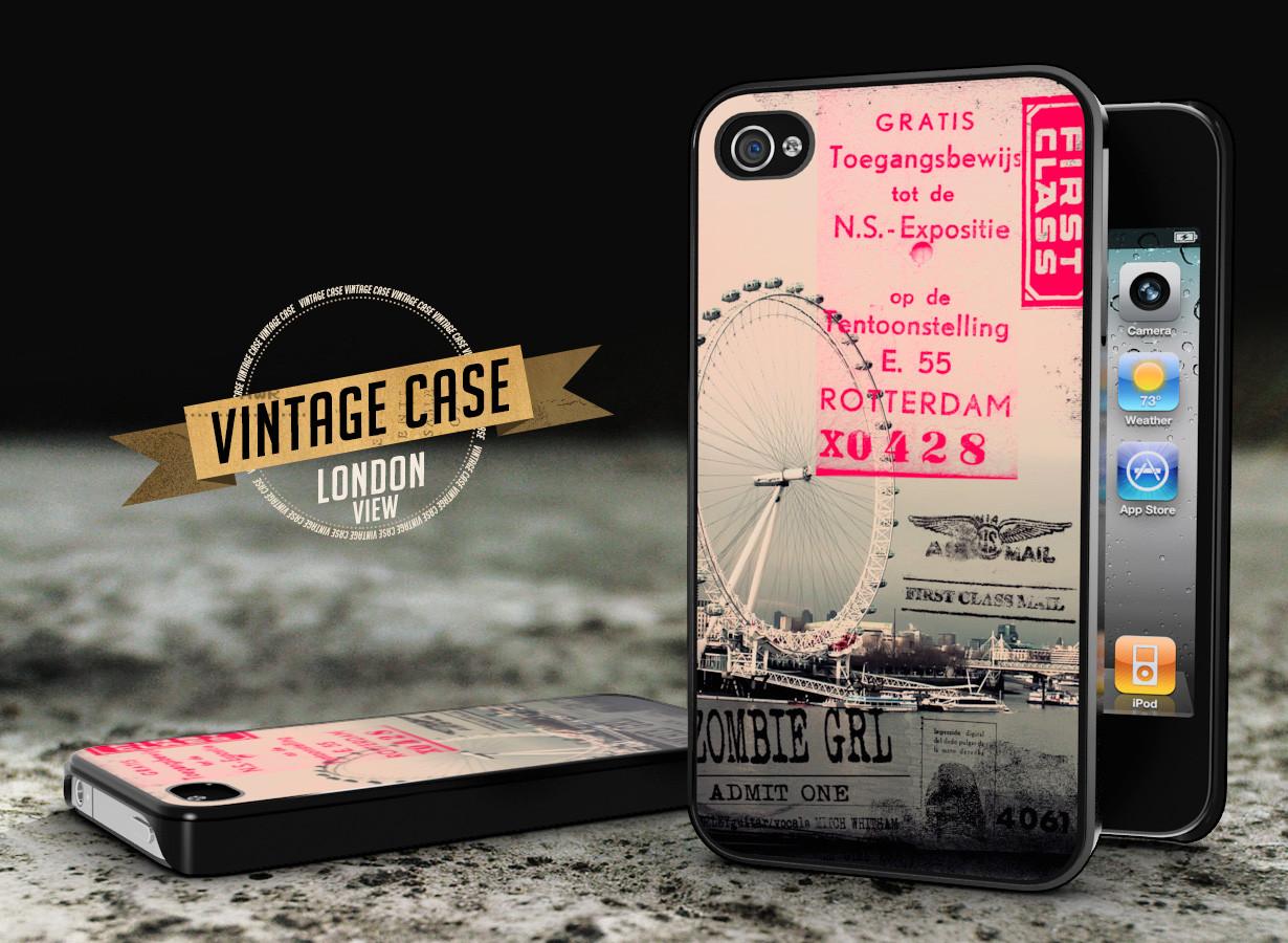 Coque iPhone 4/4S Vintage Case - London View   Master Case