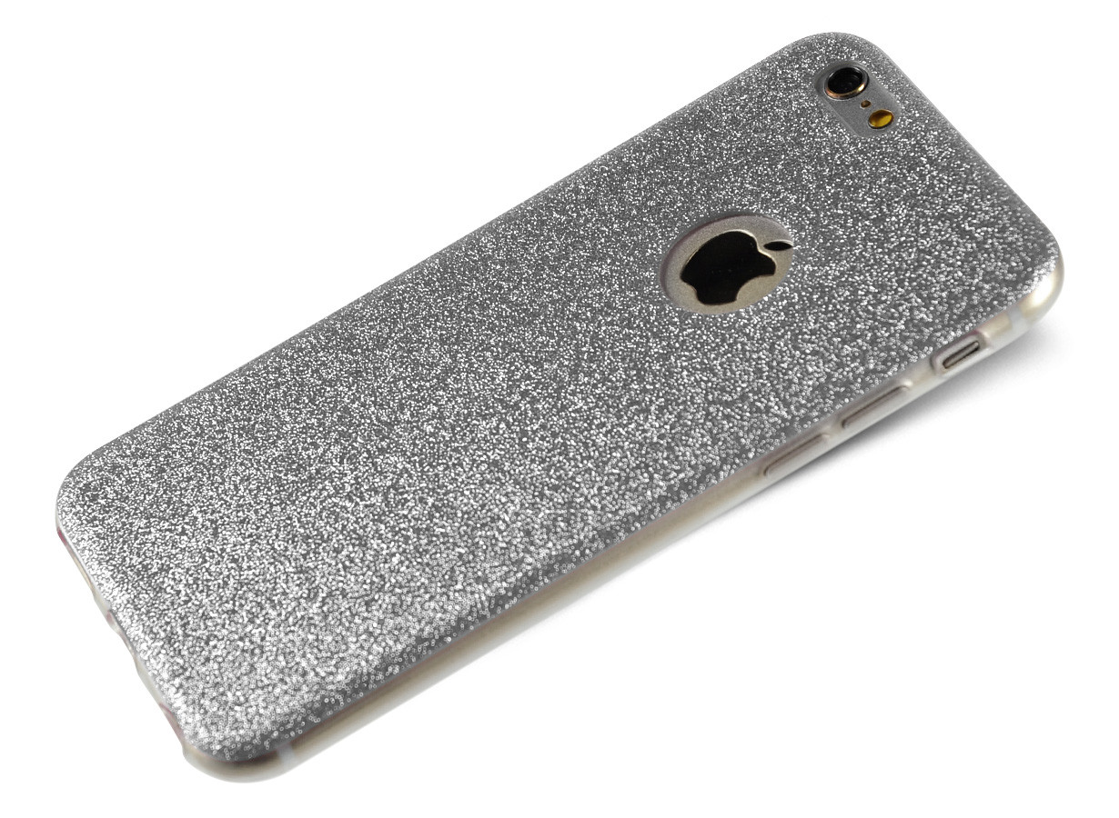 coque iphone 6 gris pailleté