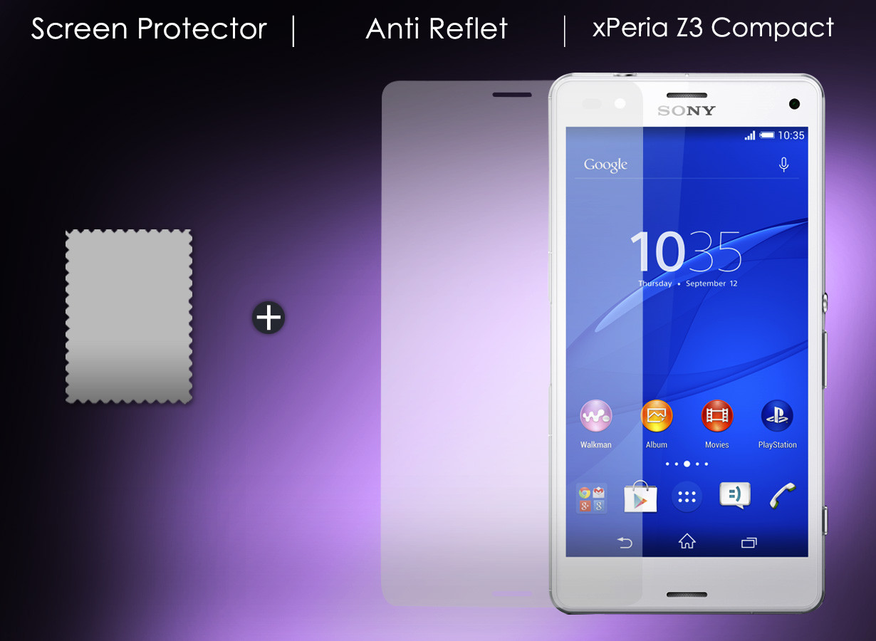film protecteur sony xp ria z3 compact anti reflet. Black Bedroom Furniture Sets. Home Design Ideas