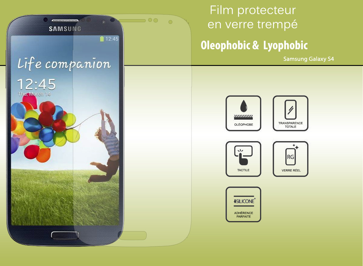 film protecteur samsung galaxy s4 en verre tremp master case. Black Bedroom Furniture Sets. Home Design Ideas