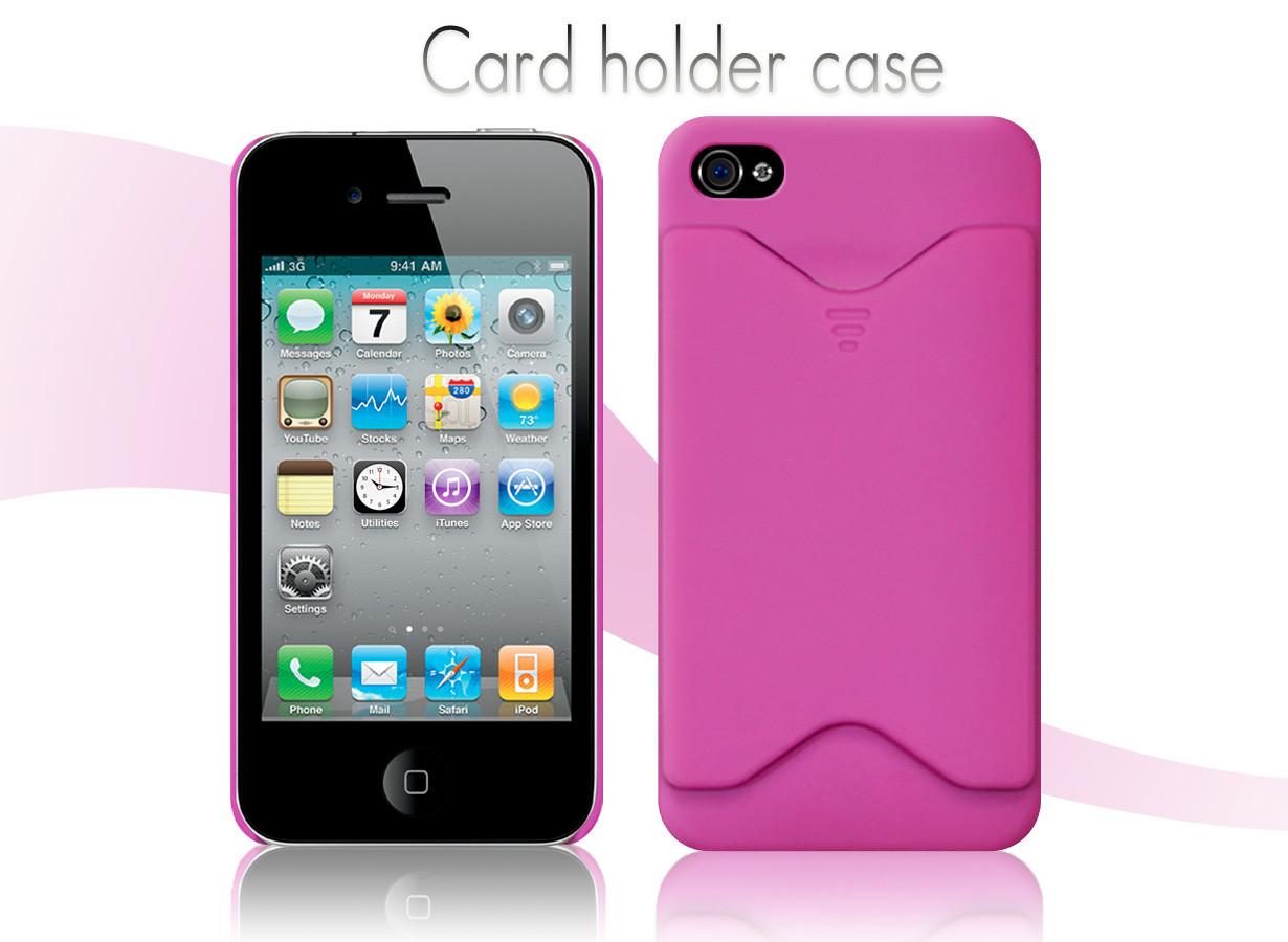 coque iphone 4 4s card holder case master case. Black Bedroom Furniture Sets. Home Design Ideas