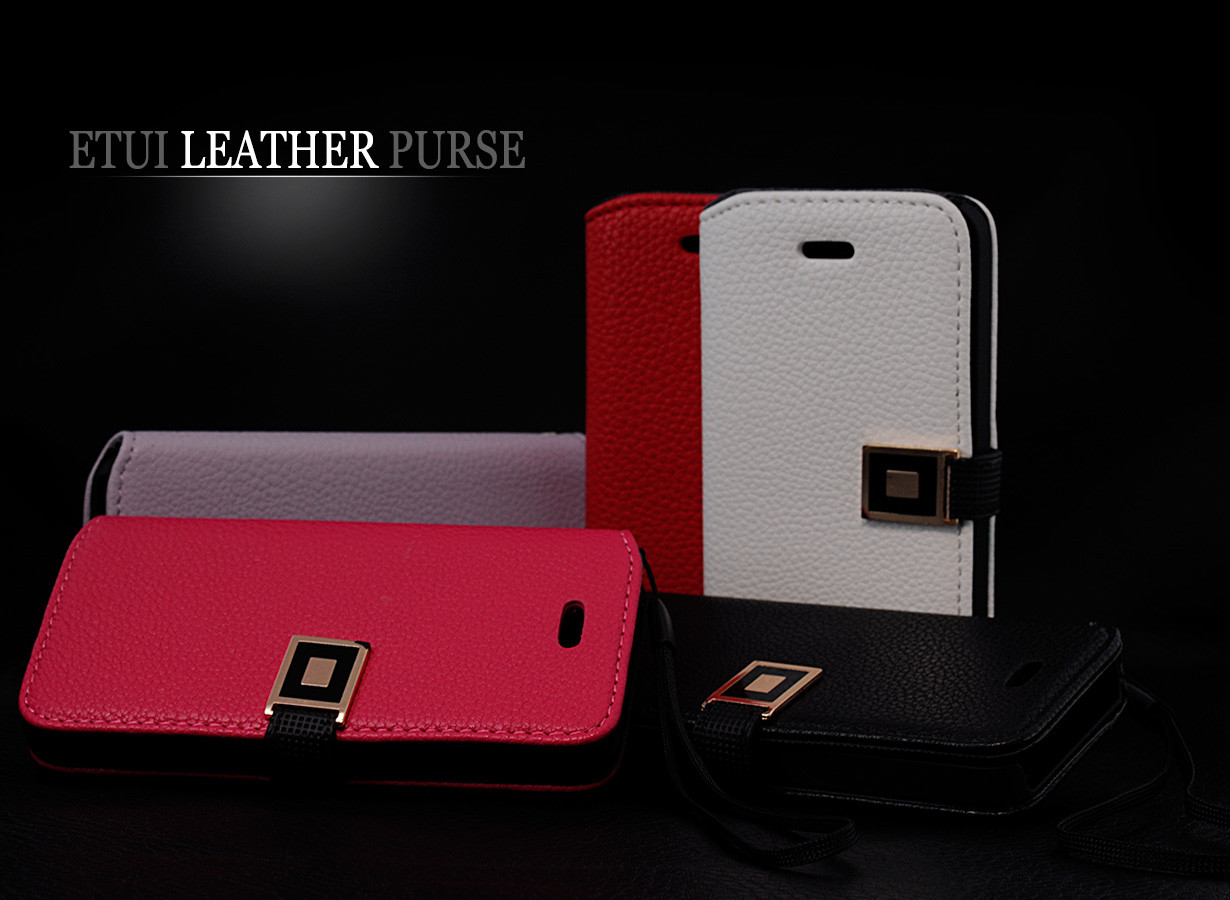 etui iphone 5 leather purse master case. Black Bedroom Furniture Sets. Home Design Ideas