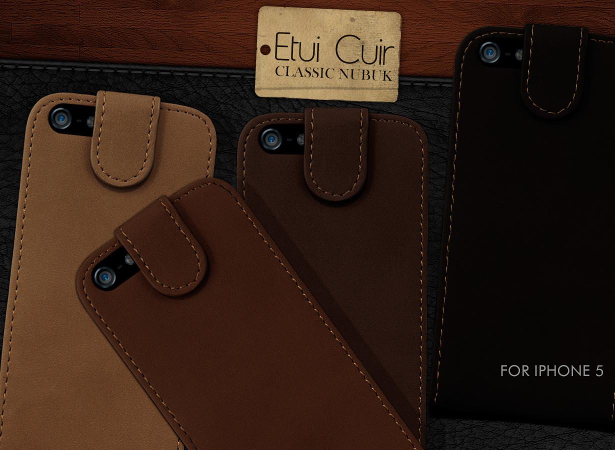 etui iphone 5 cuir classic nubuk master case. Black Bedroom Furniture Sets. Home Design Ideas