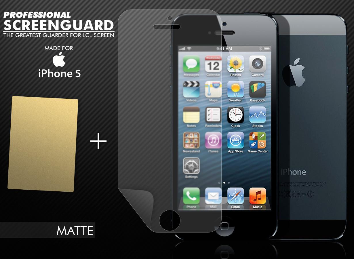 Film protecteur iphone 5 5s 5c anti reflet master case - Film anti reflet ...