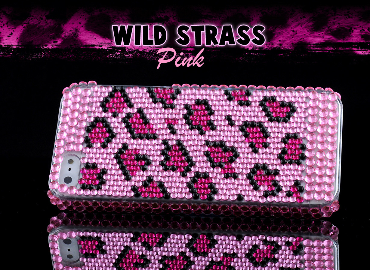 Coque iPhone 5 Strass Series - Pink Wild Strass | Master Case