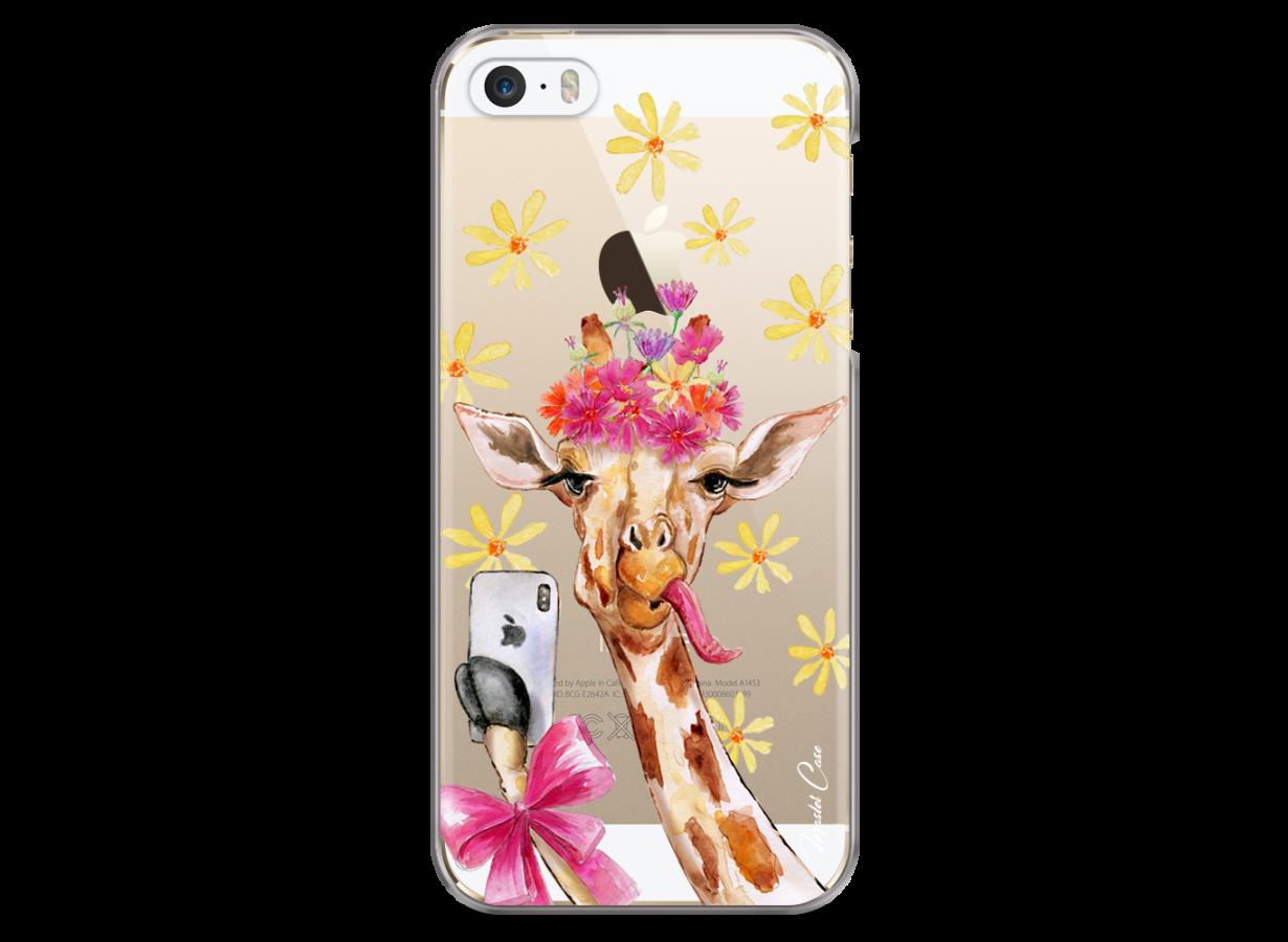 Coque iPhone 5C Watercolor Floral Giraffe | Master Case