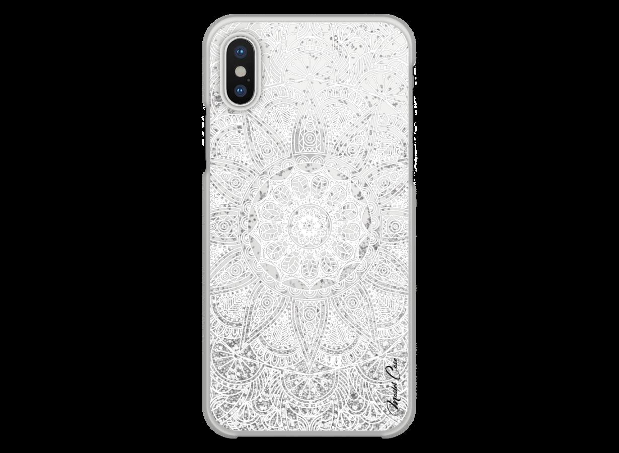 coque iphone x transparente mandala