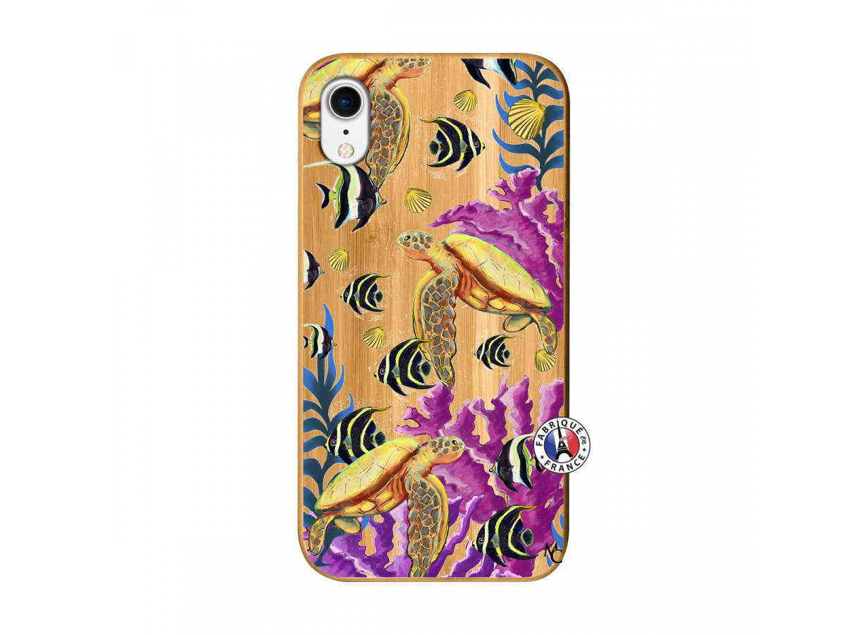 coque iphone xr bambou