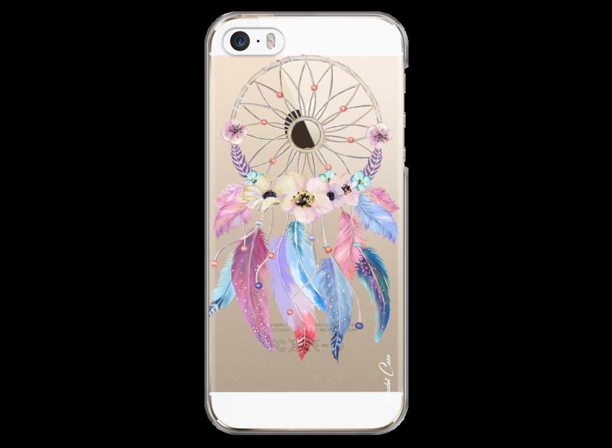 Coque iPhone 5/5s/SE Multicolor watercolor floral dreamcatcher ...