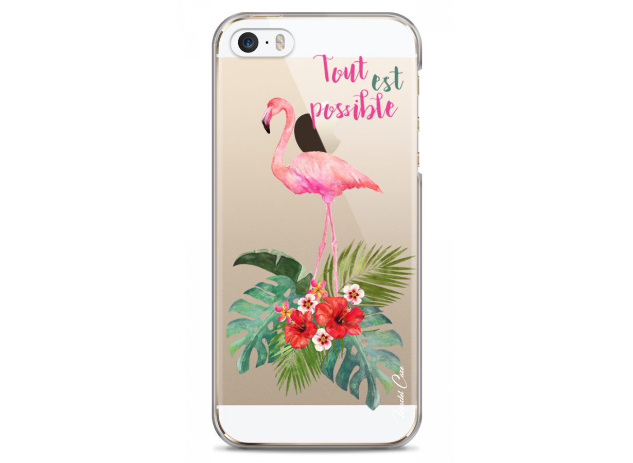 coque iphone 5 flamingo