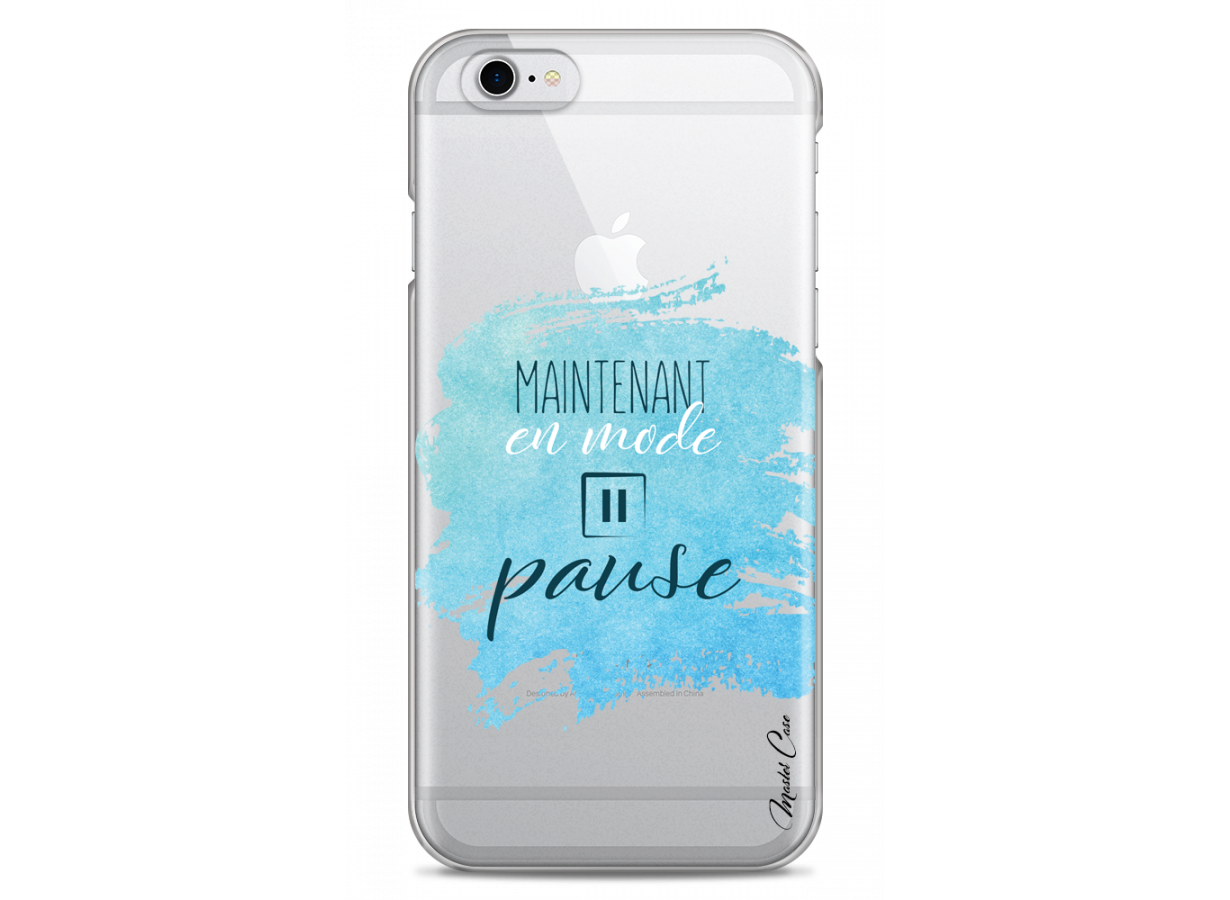 zz coque iphone 6 design master case en mode pause