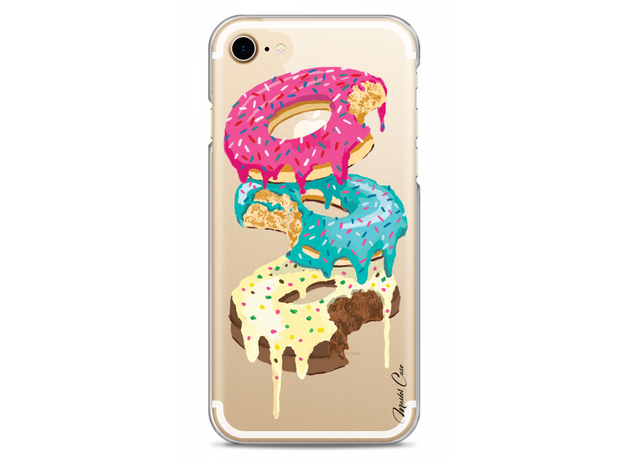 zz coque iphone 7 8 design master case colored donuts