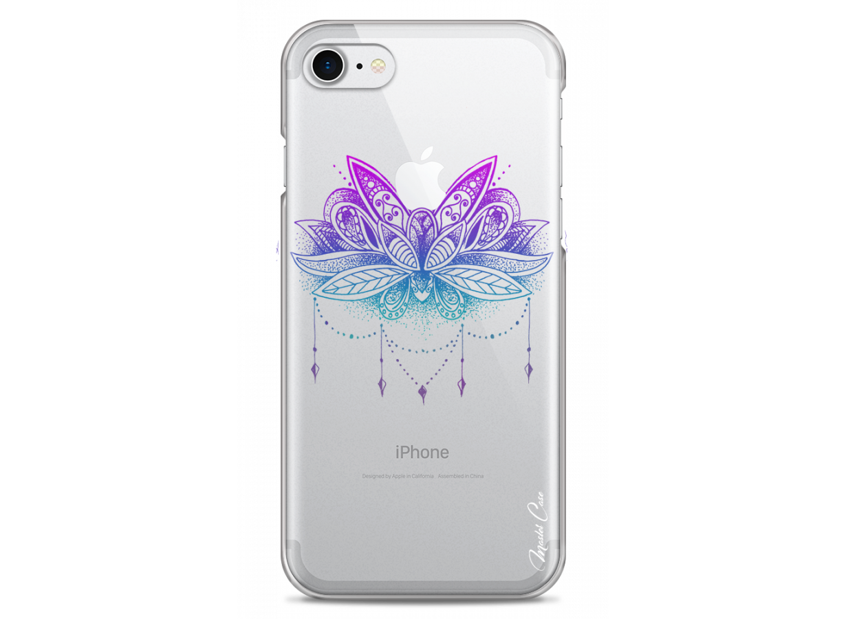 zz coque iphone 7 8 design master case magic apple flower mandala da
