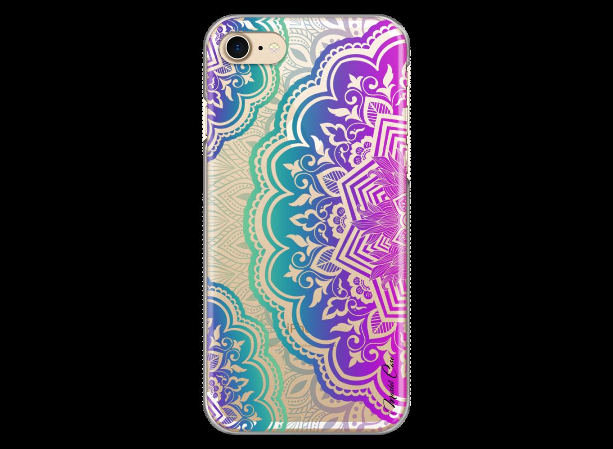 zz coque iphone 7 8 design master case multicolor 3d mandala
