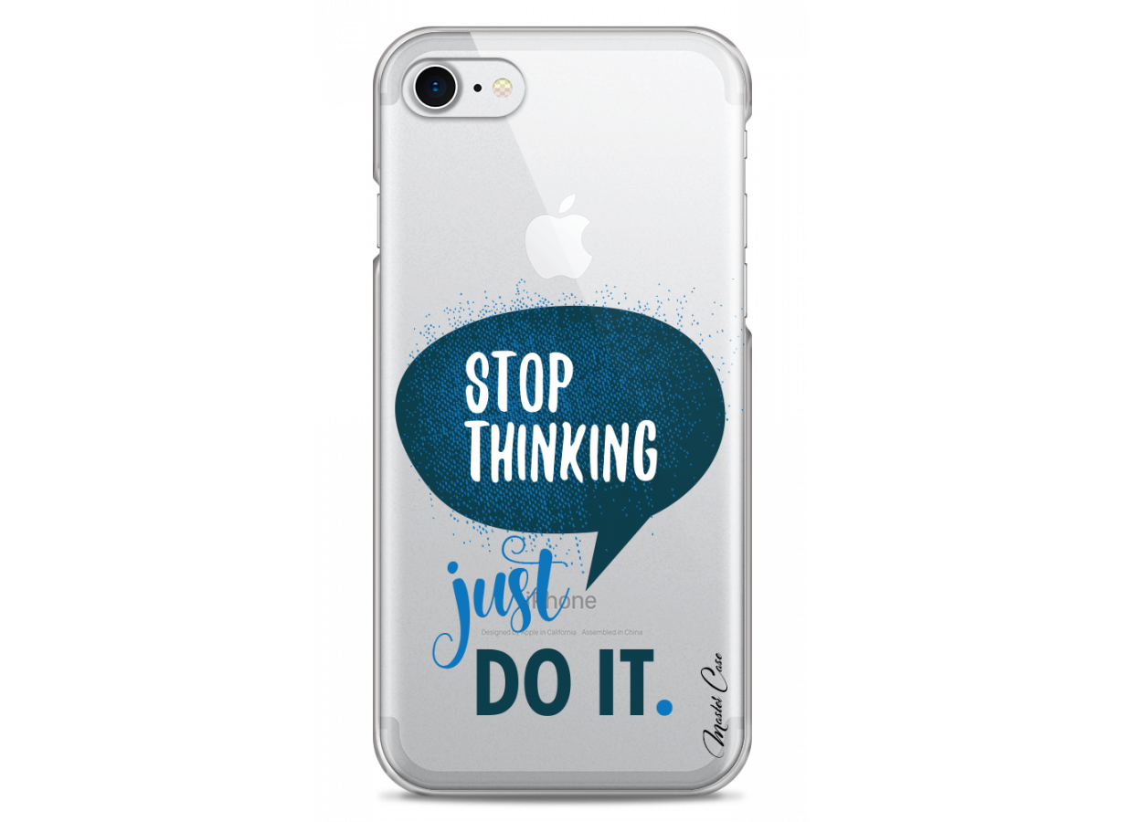 zz coque iphone 7 8 design master case stop thinking just do it