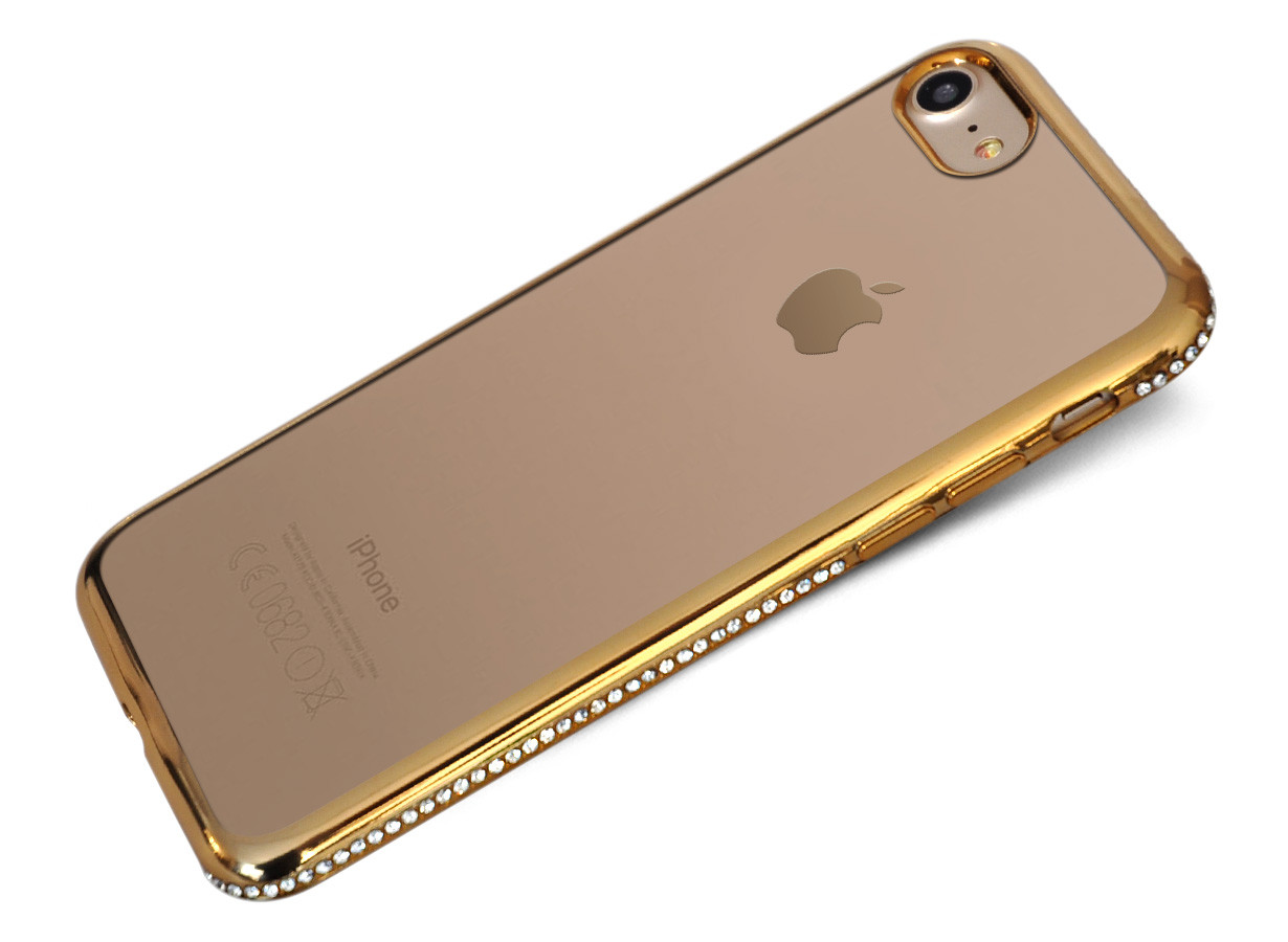 zz coque iphone 7 chrome strass or 1