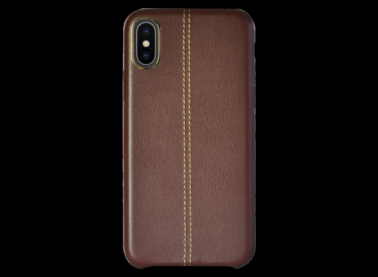 iphone x coque leather