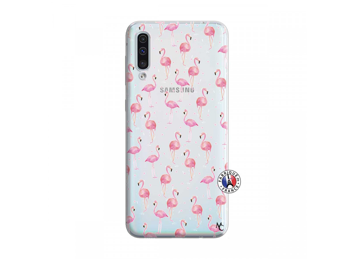 coque samsung galaxy a50 flamant rose