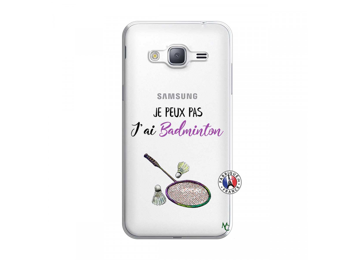Coque Samsung Galaxy J3 2016 Je Peux Pas J Ai Badminton | Master Case
