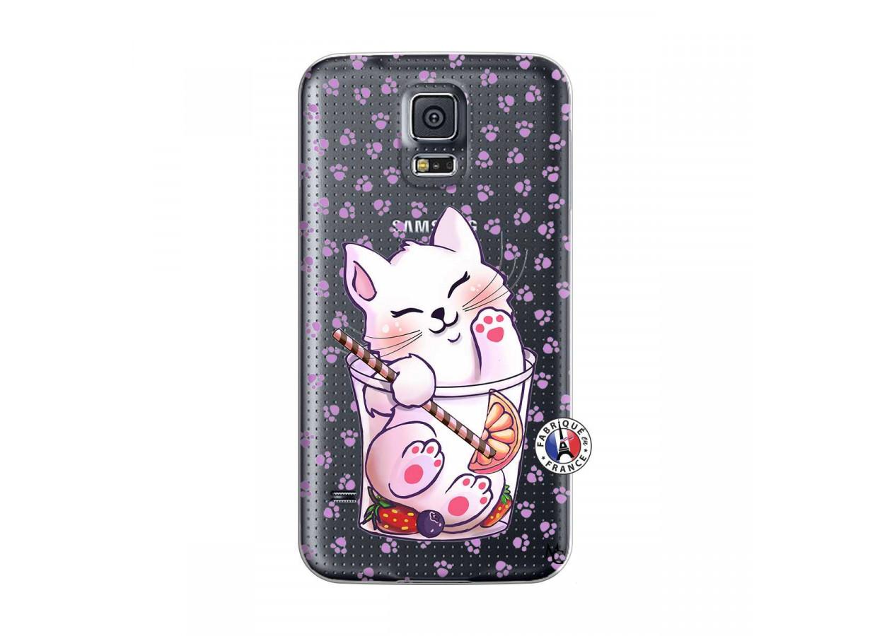 Coque Samsung Galaxy S5 Mini Smoothie Cat | Master Case