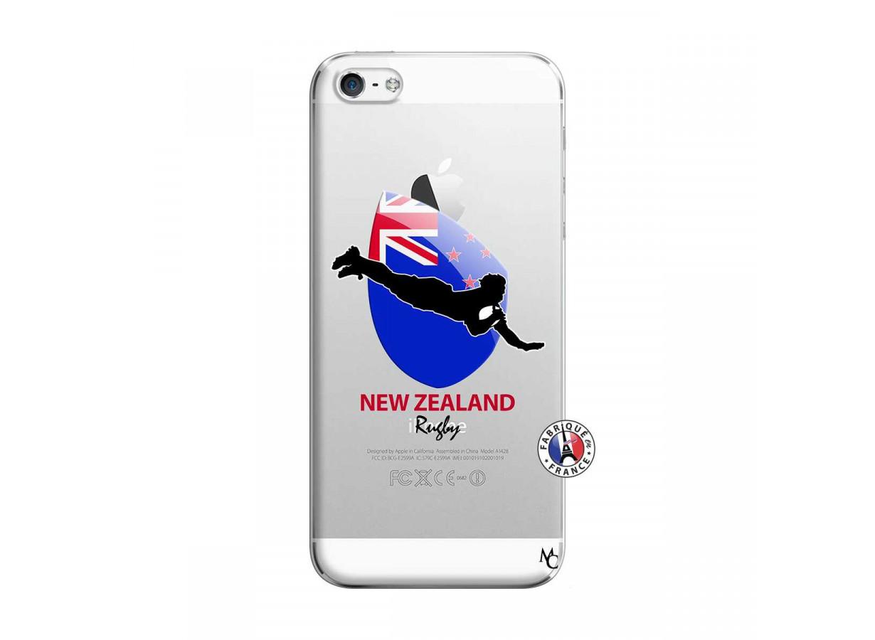 Coque iPhone 5/5S/SE Coupe du Monde Rugby- Nouvelle Zélande ...