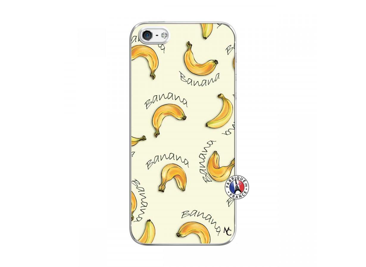 zz coque iphone 5 5s se pattern avoir a la banane translu