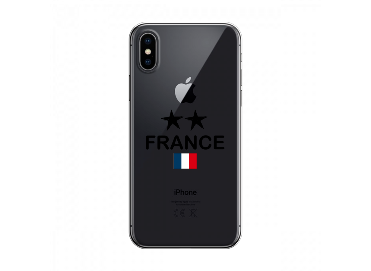 zz coque iphone x xs france 2 etoiles