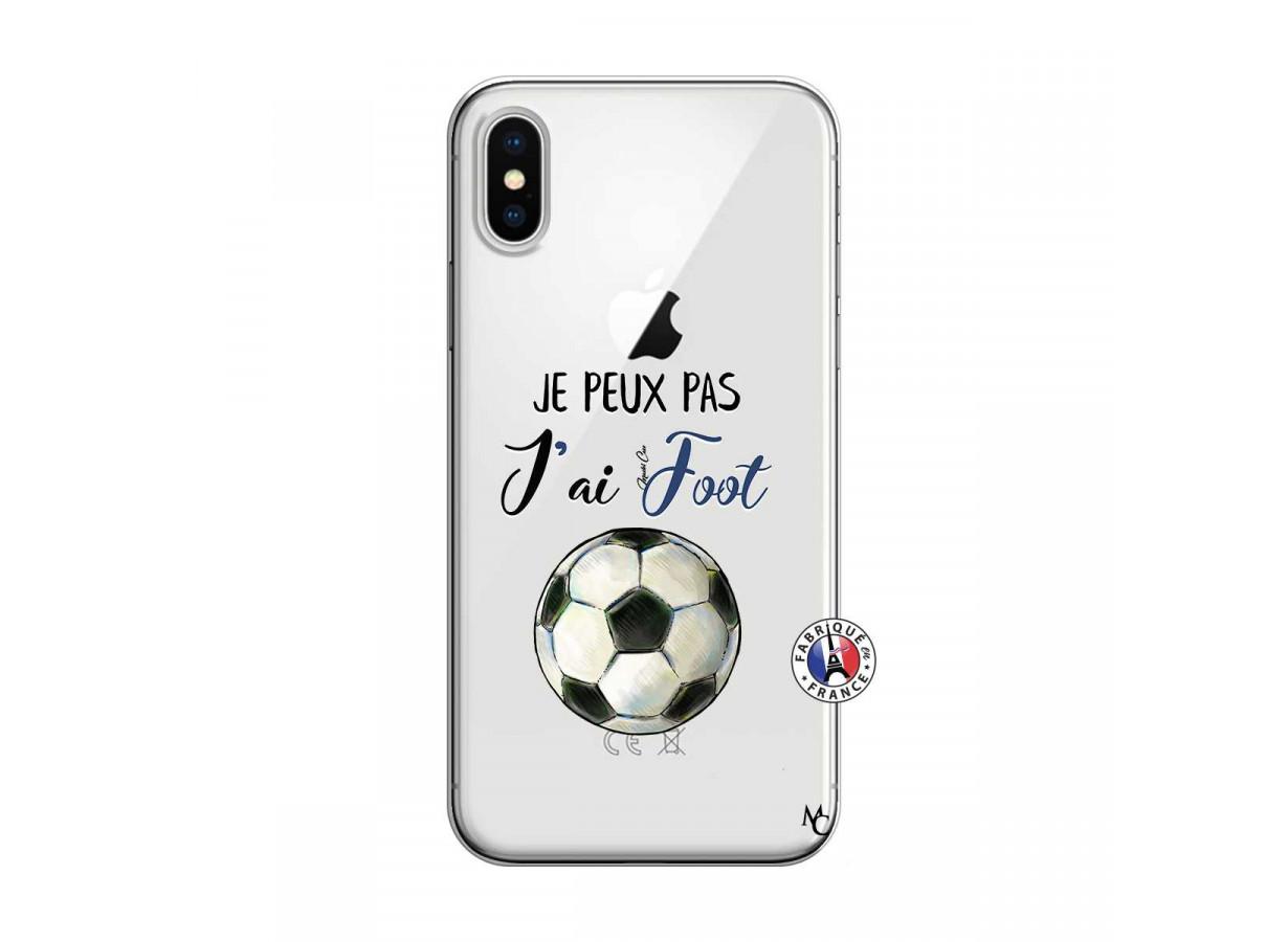 coque iphone xr foot transparente