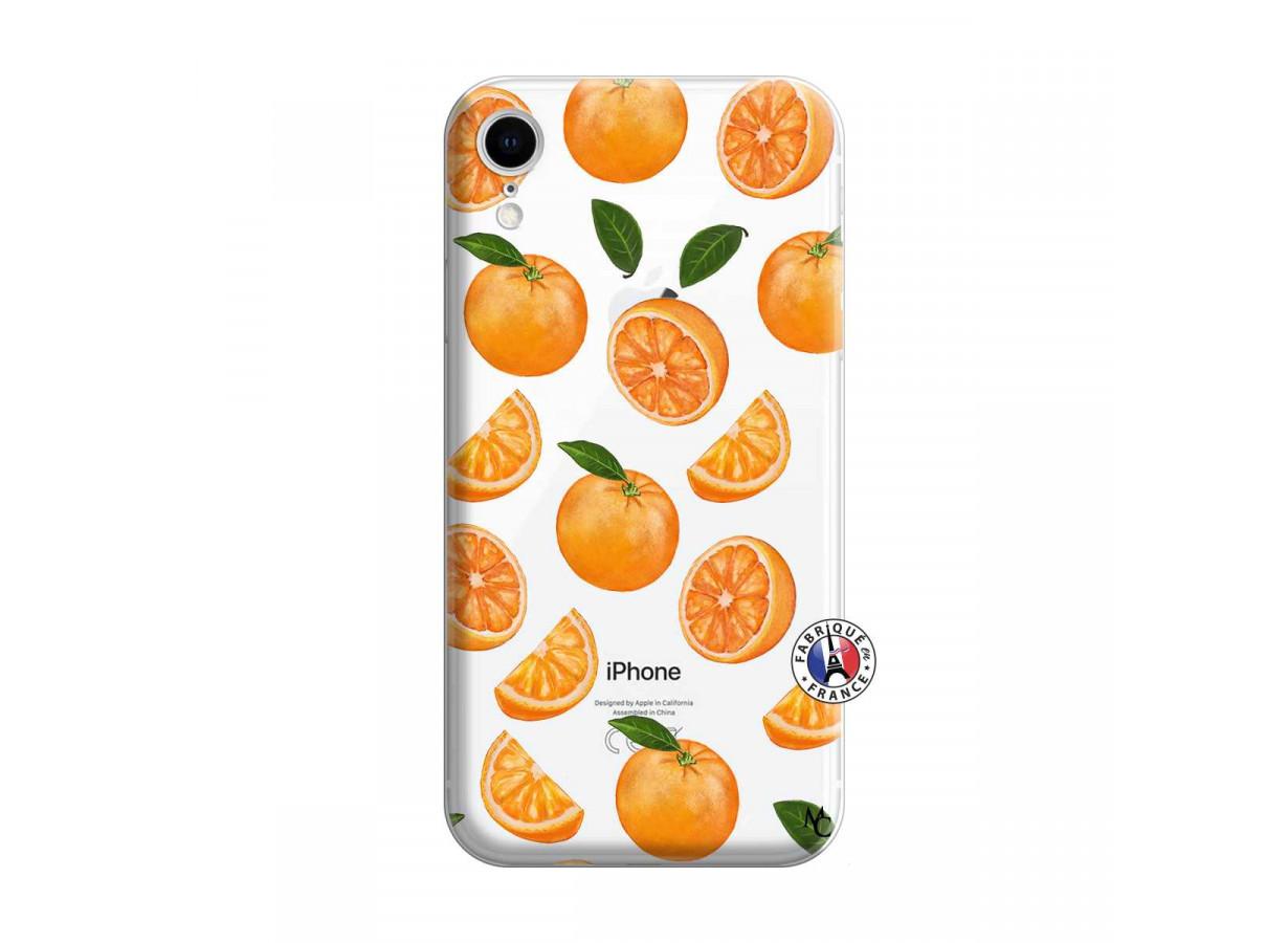 coque iphone xr antichoc orange