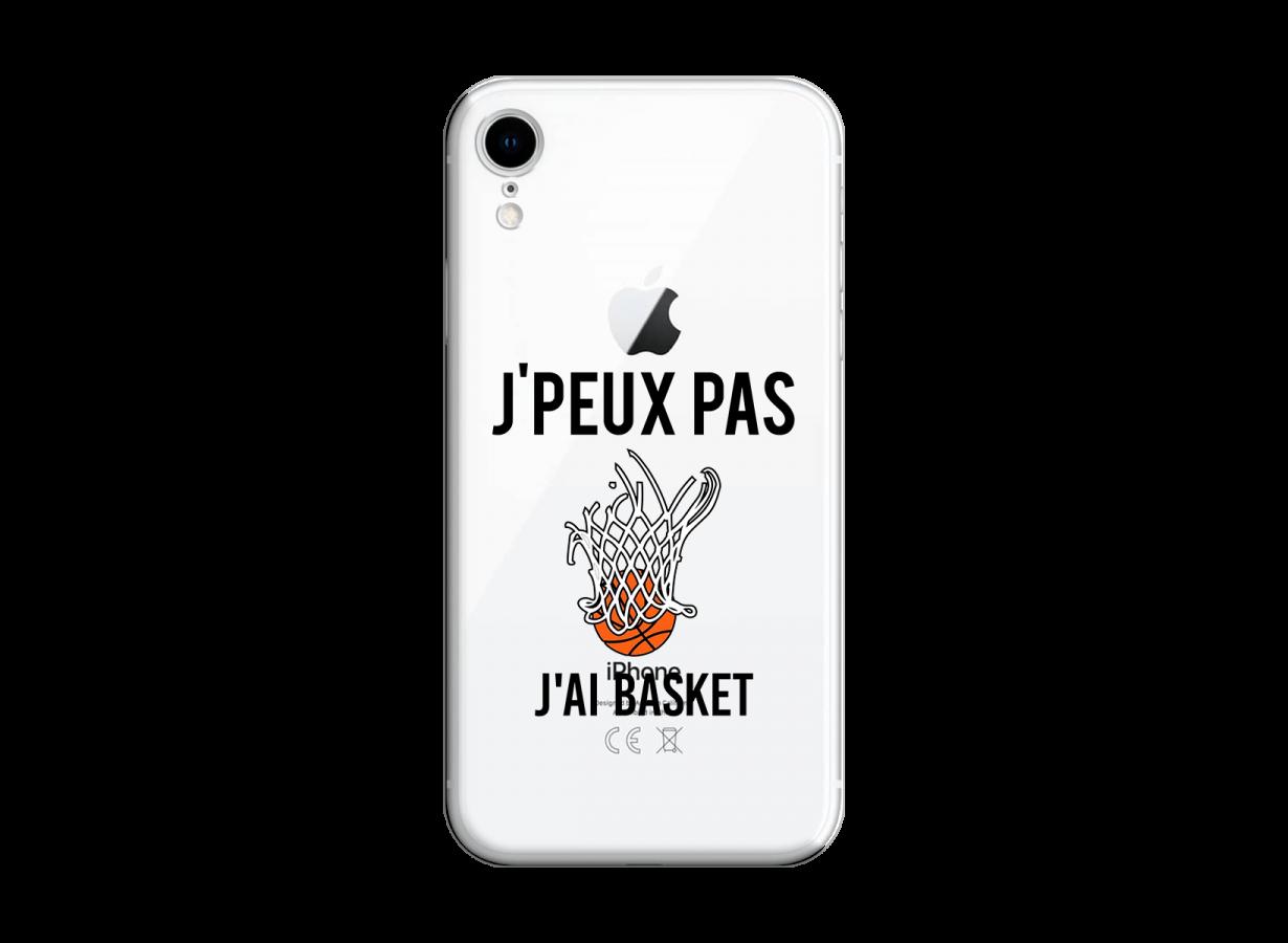 coque iphone xr noir basket