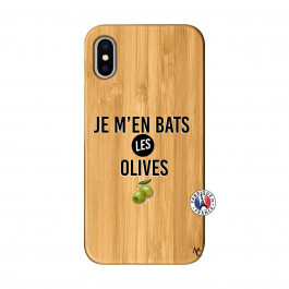 Coque iPhone X/XS Je M En Bas Les Olives Bois Bamboo   Master Case