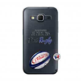 Coque Samsung Galaxy Core Prime Je Peux Pas J Ai Rugby ...