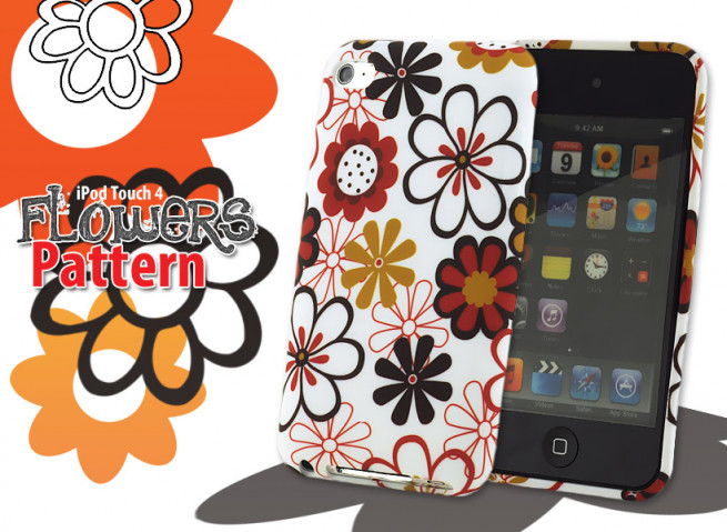 Coque iPod Touch 4 Flowers Pattern