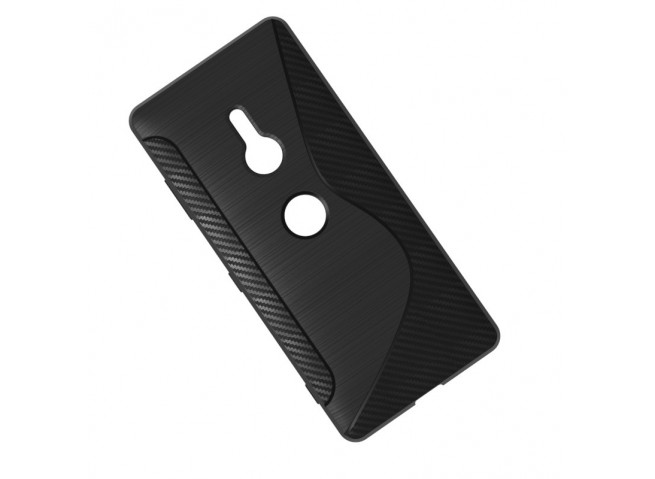 Coque Sony Xperia XZ3 Silicone Grip-Noir