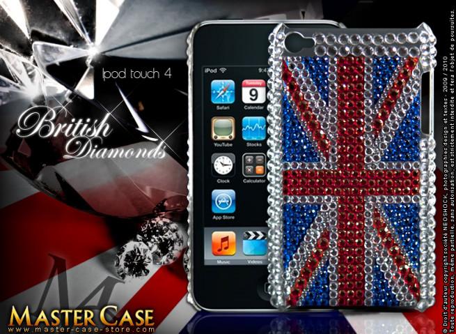 "Coque iPod Touch 4 ""British Diamonds"""