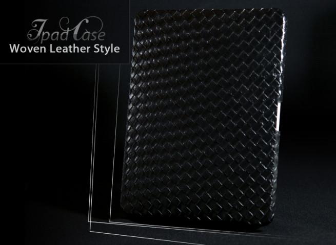 Coque iPad cuir tressé Woven Leather