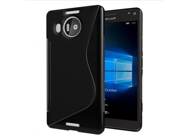 Coque Nokia 950XL Silicone Grip-Noir