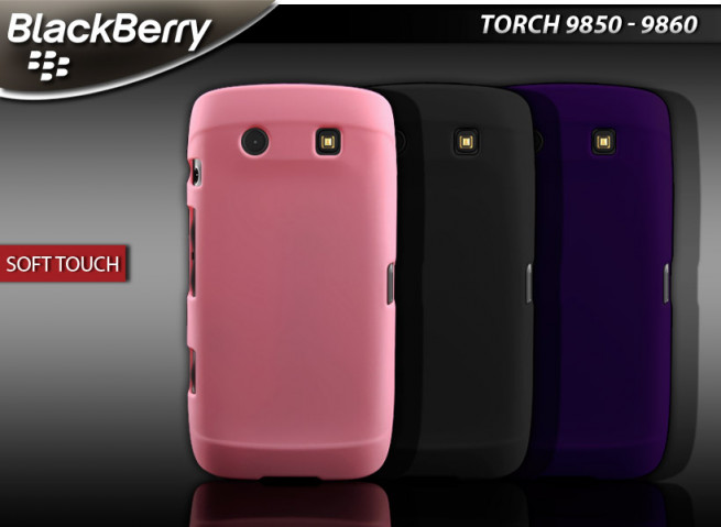 Coque Blackberry Torch 9850/60 Soft Touch