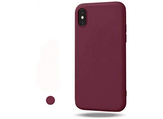 Coque iPhone X/XS Burgondy Matte Flex