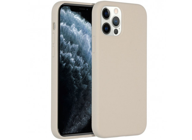 Coque iPhone 12 TPU Compatible MagSafe-Beige
