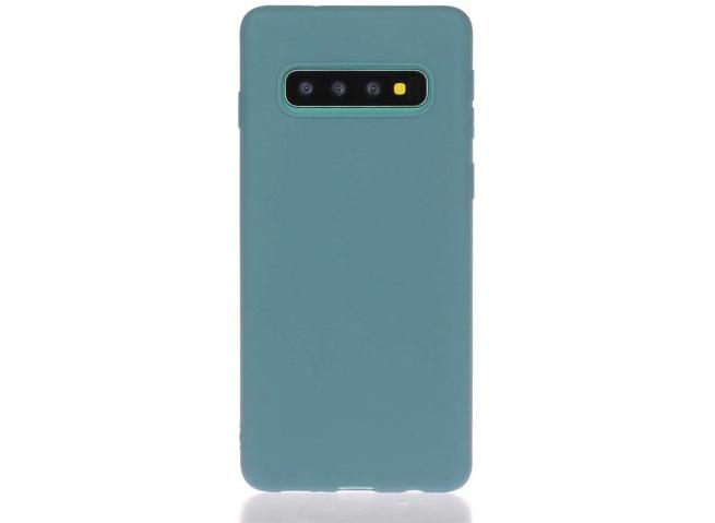 Coque Samsung Galaxy S10 Duck Egg Blue Matte Flex